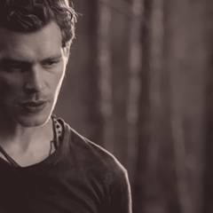 Serious Klaus in the woods