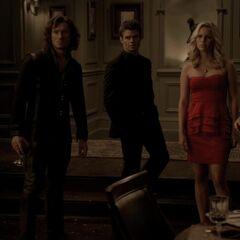 Finn, Elijah, Rebekah, Kol vs. Klaus,