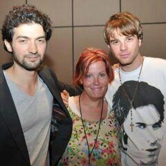 Nathaniel with David Alpay (Atticus Shane)