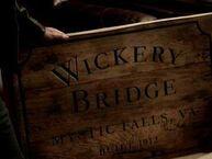 Wickerybridge schild