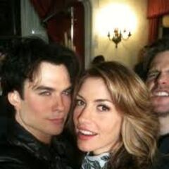 Ian and Olivieri on set