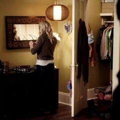 A Corner of Caroline's room and her open closet