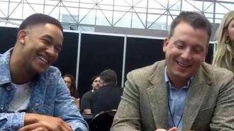 NYCC 2018 Legacies - EP Brett Matthews and Peyton 'Alex' Smith (Rafael)