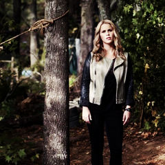 Rebekah in the woods