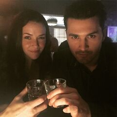 Annie Wersching, Michael Malarkey July 10, 2015