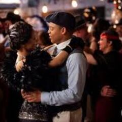 Bonnie dancing with Jamie at the 20s Decade Dance