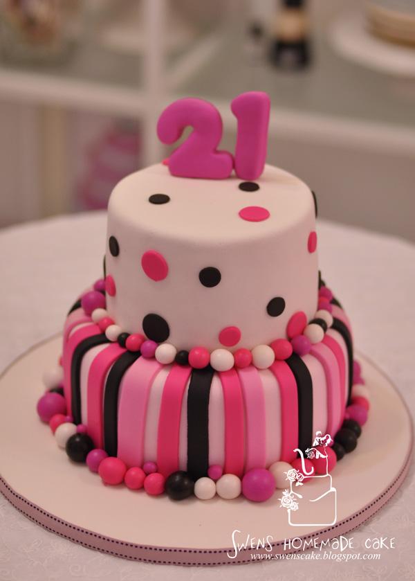 Image 21st Birthday Cake Pink1g The Vampire Diaries Wiki