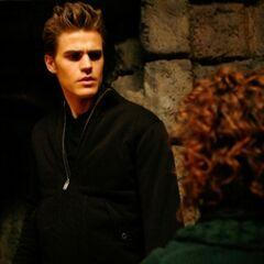 Stefan talking to Grams.
