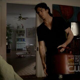 Damon will das Haus abbrennen lassen.
