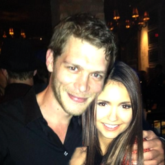Joseph Morgan and Nina Dobrev