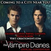 The Vampire Diaries-Official Convention-Banner-Coming to a City Near You