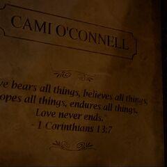 Camille O'Connell's Gravestone