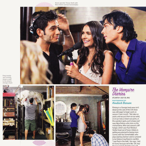 TV Guide behind the scenes of TVD