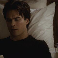 Damon reads