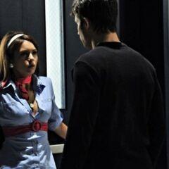 Noah cornering Elena.