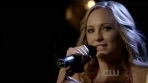 "Candice Accola (Caroline Forbes) Sings ""Eternal Flame"" in Mystic Grill"