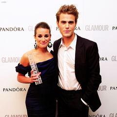 Avec Lea Michele, Glamour UK Award (Londres - mai 2012)
