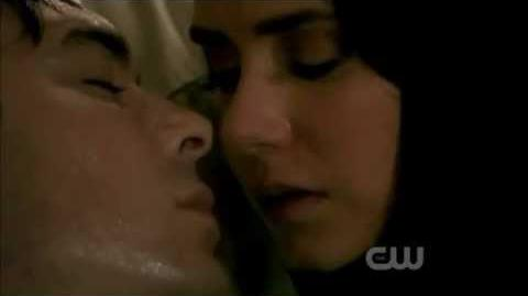 The Vampire Diaries 2x22 Damon and Elena Kissing Scene