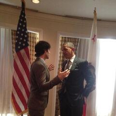 Rencontre avec Barack Obama (Novembre 2012)