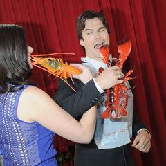 Avec Casey Wilson aux People's Choice Awards (9 janvier 2013)