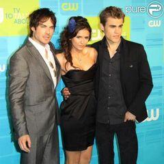 Avec Ian et Nina à la CW party (2010)