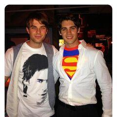 Avec Nathaniel pour Halloween (Twitter de Nathaniel)