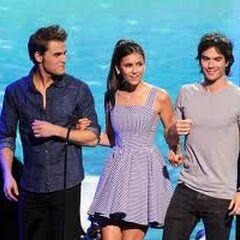 Ian Somerhalder, Paul Wesley et Nina Dobrev: Remise de prix Teen Choice Awards 2011