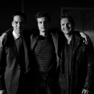 Avec Thomas Gibson & Matthew Gray Gubler- Tournage d'Esprits Criminels