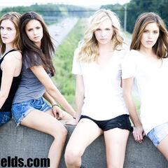 Avec Sara, Nina et Kayla