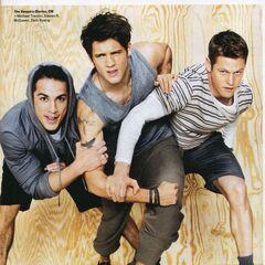 Avec Michael et Zach pour GQ Magazine