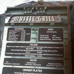 Menu du mystic grill