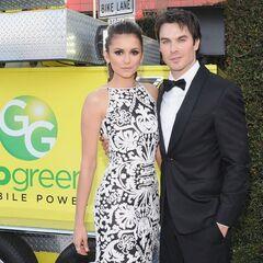 Avec Nina à la Elton John Oscars Party (24 février 2013)