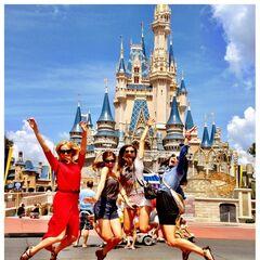 Avec Kayla & Nina à Disney World (août 2012)