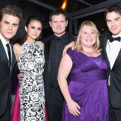 Avec Nina, Kevin, Julie & Ian à la Elton John Oscars Party (24 février 2013)