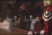 Leila Marcus orders a cold beer in Vampire Hunter D - Bloodlust