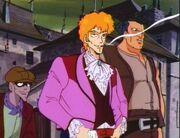 Vampire Hunter D Greco smoking a cigarette