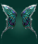 Bejeweled Butterfly Wings canvas