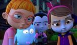 Vee, Poppy and Bridget glaring at Gregoria