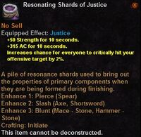 Resonating shards justice