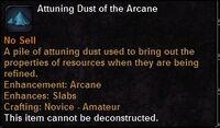 Attuning dust arcane