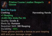 Pristine coarse leather reaper's gloves
