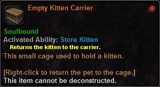 Empty Kitten Carrier