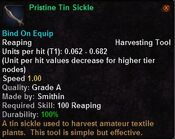 Pristine tin sickle