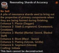 Resonating shards accuracy