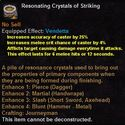 Resonating crystals striking