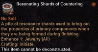 Resonating shards countering