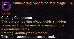 Shimmering Sphere of Dark Magic