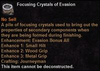 Focusing crystal evasion