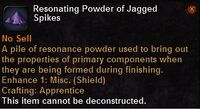 Resonating powder jagged spikes