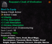 Ruquasa's Cloak of Vindication